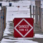warning sign danger thin ice